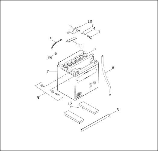 BATTERY 1991-1992 FXR Models Parts Catalog