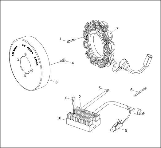 ALTERNATOR & REGULATOR|2001 XLH Models Parts Catalog