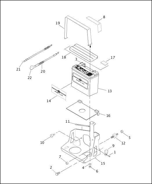 BATTERY|2001 XLH Models Parts Catalog