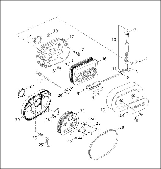AIR CLEANER & ENRICHENER|2003 Sportster Models Parts Catalog