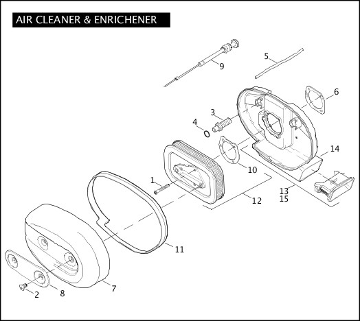 AIR CLEANER & ENRICHENER|2005 Sportster Models Parts Catalog
