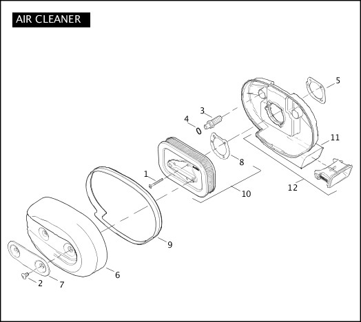 AIR CLEANER|2007 Sportster Models Parts Catalog